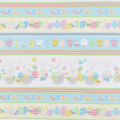 Some Bunny Loves You - Spring Stripe Multi Yardage