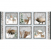 Snowy Woods - Winter Animals Panel