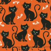 Bats and Black Cats - Bone Appetit Orange Yardage