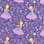 Sofia the First - Meadow Grape Yardage