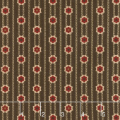 Shelbyville - Chevron Stripe Brown Yardage