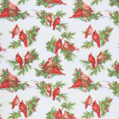 Cardinal Noel - Large Allover Cream Yardage