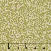 Voysey - The Lisston 1900 Olive Yardage
