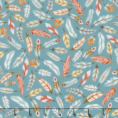 Camp - A - Long Critters - Feathers Slate Green Yardage
