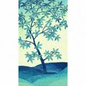 Artisan Spirit - Shimmer Echoes Blue Lagoon and Hibiscus Tree Metallic Panel