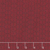 Cherry Twist - Optic Circles Black/Cherry Yardage