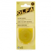 Olfa 45mm Rotary Replacement Blades - 5 Pack