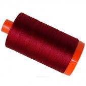 Aurifil 50 WT Cotton Mako Large Spool Thread Red Wine