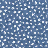 America, My Home - Star Toss Blue Yardage