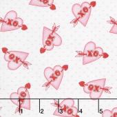 Love Struck - Hearts XO Pink Yardage