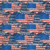 We the People - Star Spangled Banner USA Multi Yardage