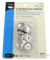 Half Ball Cover Buttons (4 ct) - Size 30 - 3/4in