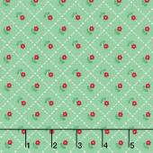 Mon Beau Jardin - Grid Green Yardage