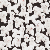 Dogs - Bichon Frise Black Yardage