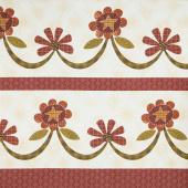 Plant Kindness - Swag Border Stripe Cream Yardage