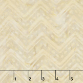 Cream of the Crop Batiks - Chevron Tan Green Yardage