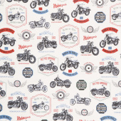 Born to Ride - Cream Yardage