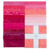 "Lava Batik Solids - Flirt 10"" Squares"