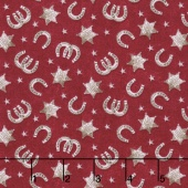 Ranch Hands - Horseshoes Red Yardage