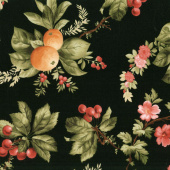 A Fruitful Life - Fruitful Floral Black Yardage