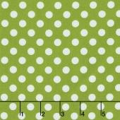 Kimberbell Basics - Dots Green Yardage