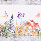 Garden of Dreams - Border Multi Digitally Printed Yardage