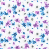 Awakenings - Packed Floral White Yardage