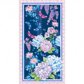 Midnight Hydrangea - Hydrangea Navy Panel
