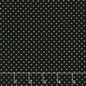 Swiss Dot - White Swiss Dot on Black Yardage