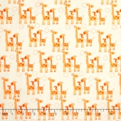 Giraffe Crossing 2 - Giraffes Orange Yardage