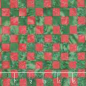 Season's Splendor Batiks - Check Multi Christmas Yardage