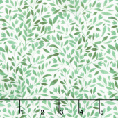 Amethyst Magic - Vines & Leaves Green Yardage