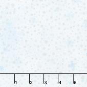 Artisan Batiks - Northwoods 8 Snowflakes Ice Metallic Yardage
