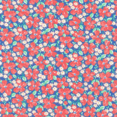 30's Playtime - Garden Party Bluebell Yardage