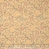 "Prairie Vine - Tan Multi Color Flowers 108"" Wide Backing"