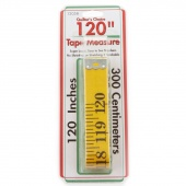 "Tape Measure 120"" Yellow Fiberglass"