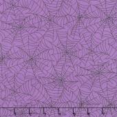 Broomhilda's Bakery - Spiderweb Black on Purple Yardage