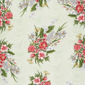 Magnificent Blooms - Bouquet Sage Yardage