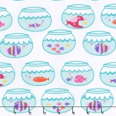 Mer-Mates - Swimming In Circles Mermaid Yardage