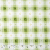 Simply Chic - Toile Check Green Yardage