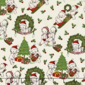Kewpie Christmas - Christmas Main Cream Yardage