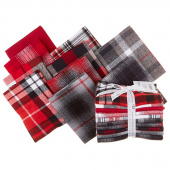 Mammoth Flannel - Red Colorstory Fat Quarter Bundle