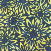 Artisan Batiks - Sunny Day Sunflowers Navy Yardage