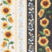Sundance Meadow - Repeating Stripe Multi Yardage