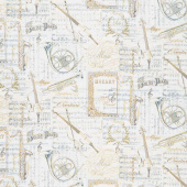 Novelty - Sheet Music Patchwork Antique Metallic Yardage
