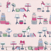 Derby Day - Haberdashery Pink Sparkle Yardage