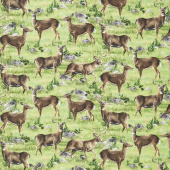 Hidden Valley - Deer Allover Green Yardage