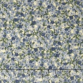 Belcourt - Tiny Florals Dusty Blue Yardage
