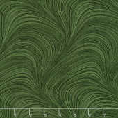 "Wave Texture - Wave Texture Dark Green 108"" Wide Backing"