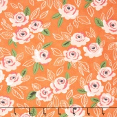 Sugar Pie - Wildest Rose Orange Yardage